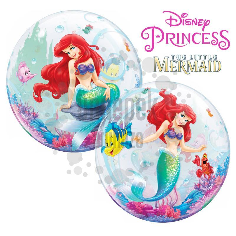 22 inch-es Disney Bubbles The Little Mermaid - A Kis Hableány Héliumos Lufi