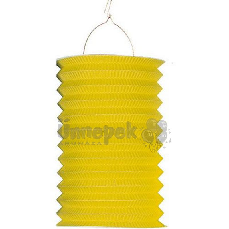 Sárga Hengeres Lampion - 24 cm