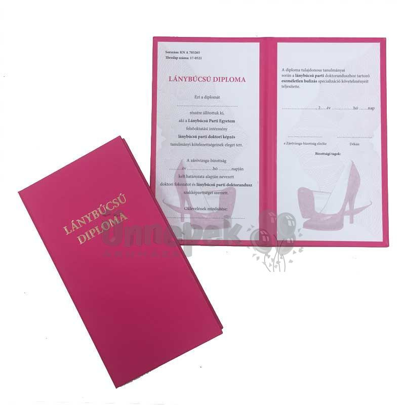 Lánybúcsú Diploma