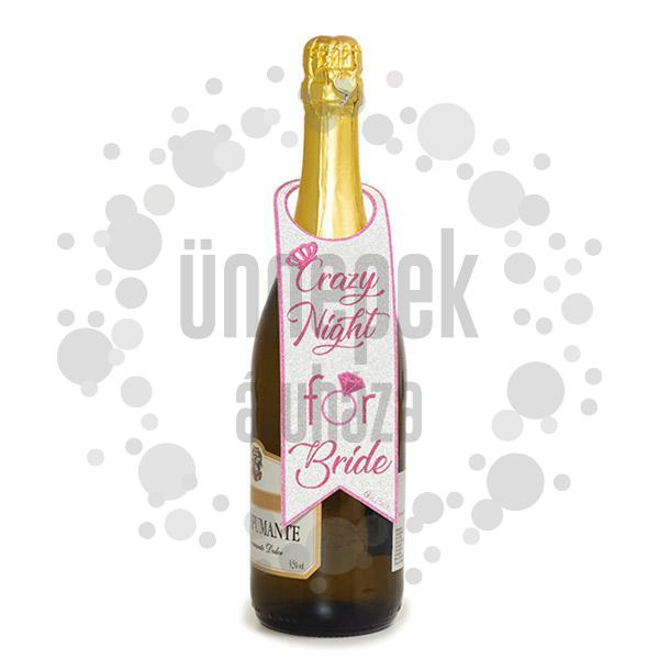 Csillogó - Glitteres Hen Party Üveg Dekoráció Lánybúcsúra - 2 db-os