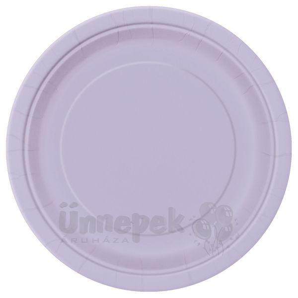 Lavender Papír Parti Tányér - 23 cm, 8 db-os