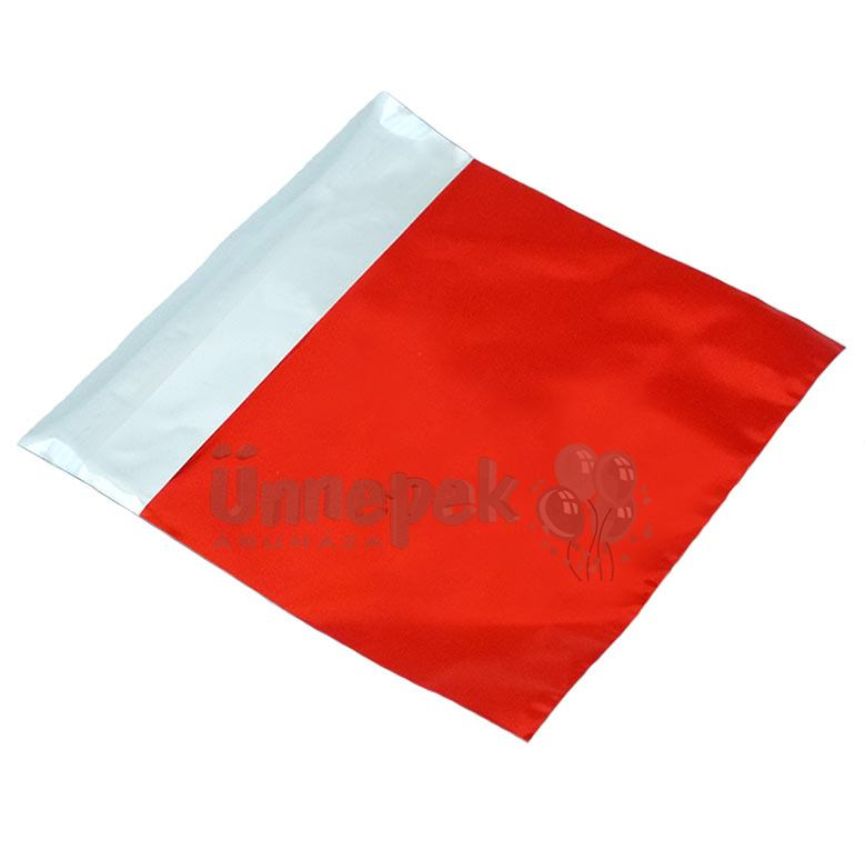 Lezárható Metál Fényes Piros Ajándéktasak - 18 cm x 15 cm, 1 db