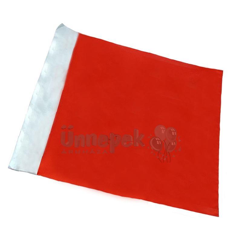 Lezárható Metál Fényes Piros Ajándéktasak - 25 cm x 50 cm, 1 db