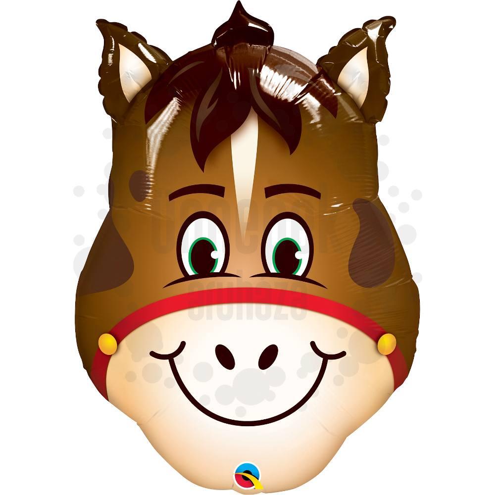 32 inch-es Hilarious Horse - Vidám Ló Fej Super Shape Héliumos Fólia Lufi