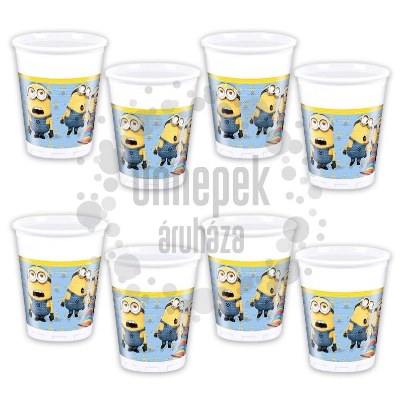 Lovely Minions Parti Pohár - 200 ml, 8 db-os