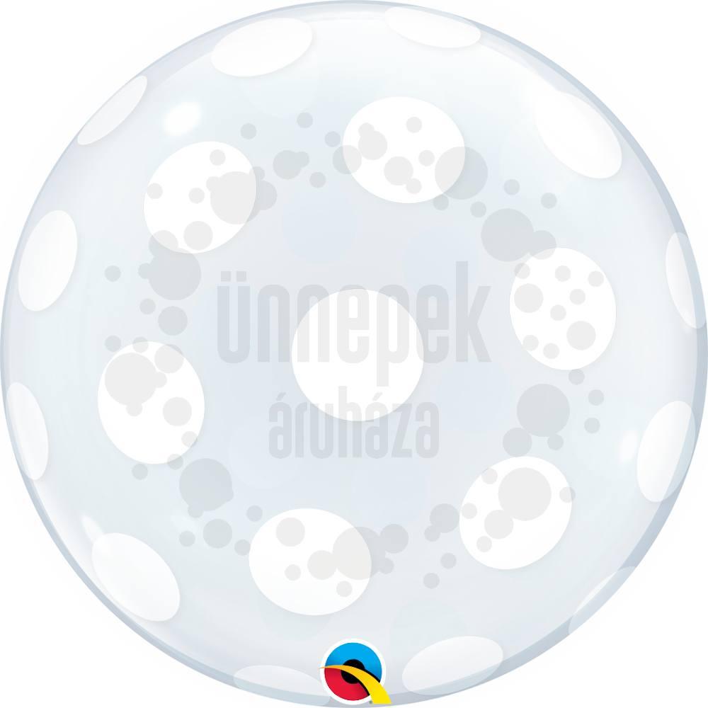 20 inch-es Pöttyös - Big Polka Dots All Around Héliumos Deco Bubble Lufi