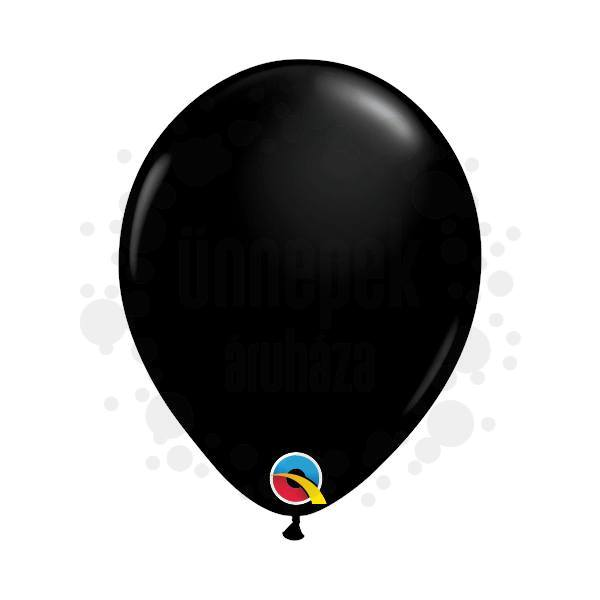 5 inch-es Onyx Black (Fashion) Kerek Lufi (100 db/csomag)
