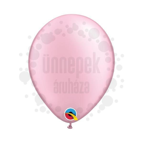 5 inch-es Pearl Pink Kerek Lufi (100 db/csomag)