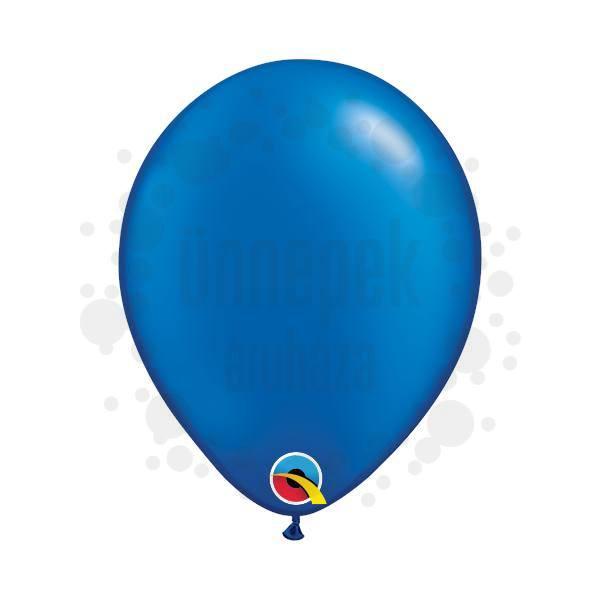 5 inch-es Pearl Sapphire Blue Kerek Lufi (100 db/csomag)