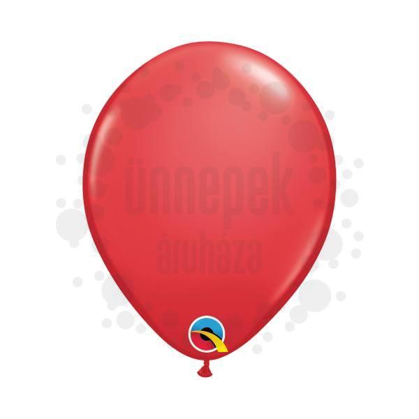 5 inch-es Red (Standard) Kerek Lufi (100 db/csomag)