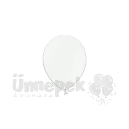 5 inch-es Pastel White - Fehér Kerek Lufi (100 db/csomag)