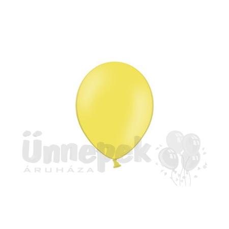 5 inch-es Pastel Yellow - Sárga Kerek Lufi (100 db/csomag)