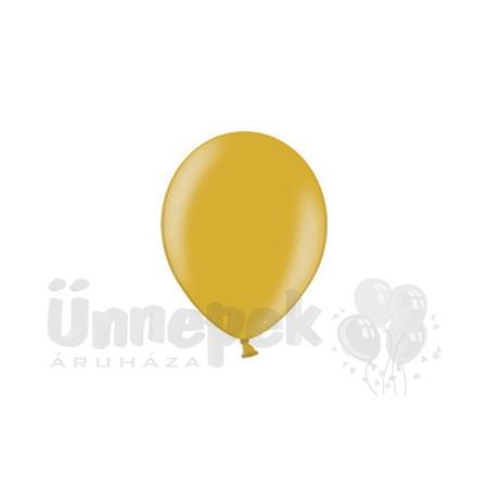 12 inch-es Metallic Gold - Metál Arany Kerek Lufi (100 db/csomag)