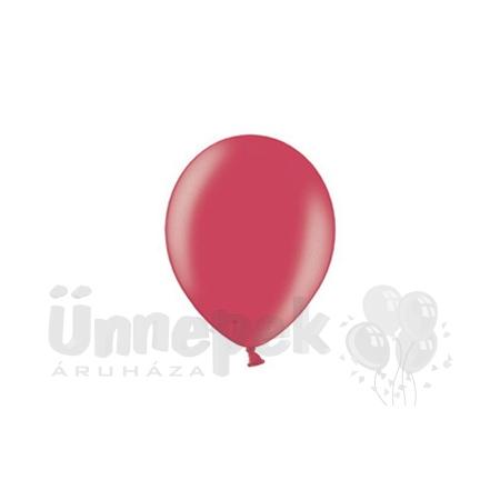 12 inch-es Metallic Cherry Red - Metál Cseresznye Kerek Lufi (100 db/csomag)