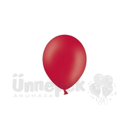 5 inch-es Pastel Red - Piros Kerek Lufi (100 db/csomag)