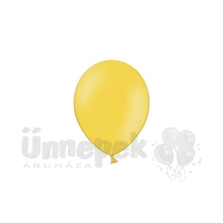 11 inch-es Pastel Bright Yellow - Világossárga Kerek Lufi (100 db/csomag)
