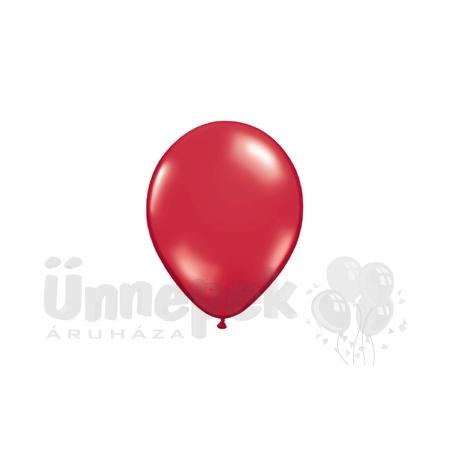 11 inch-es Crystal Red - Királypiros Kerek Lufi (100 db/csomag)
