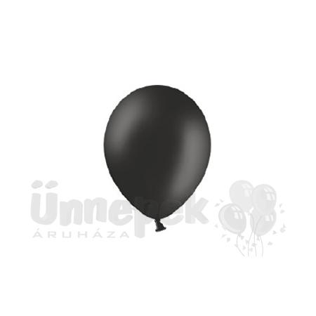 11 inch-es Pastel Black - Fekete Kerek Lufi (100 db/csomag)