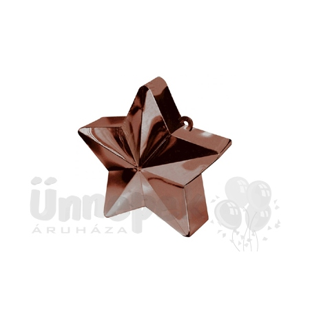 Csokoládébarna Csillag Léggömbsúly - 170 gramm