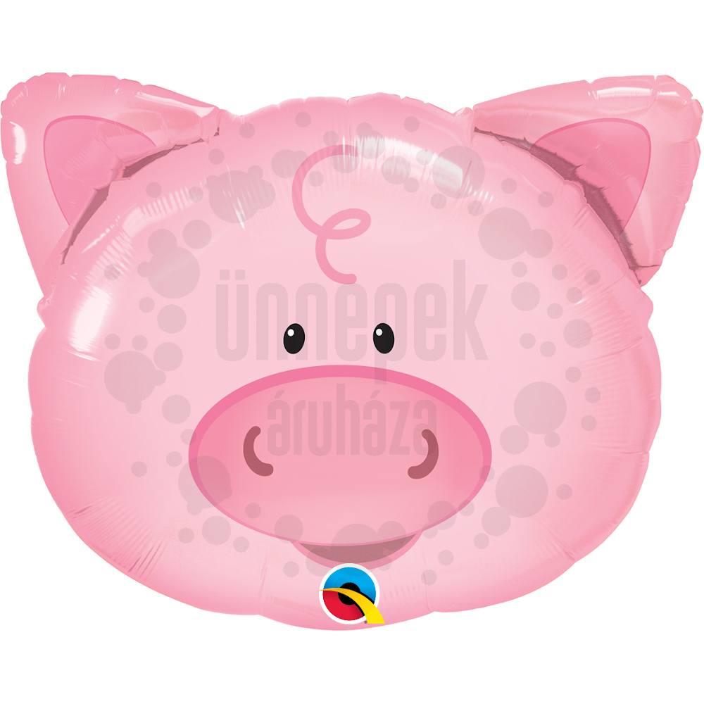 30 inch-es Playful Pig - Malac Fej Héliumos Fólia Lufi