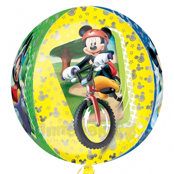 Mickey Mouse - Mikiegér Ultra Shape Orbz Héliumos Fólia Lufi