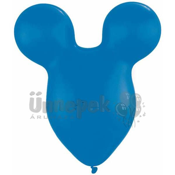 15 inch-es Mickey Mouse - Mikiegér Fej Dark Blue Lufi (10 db/csomag)