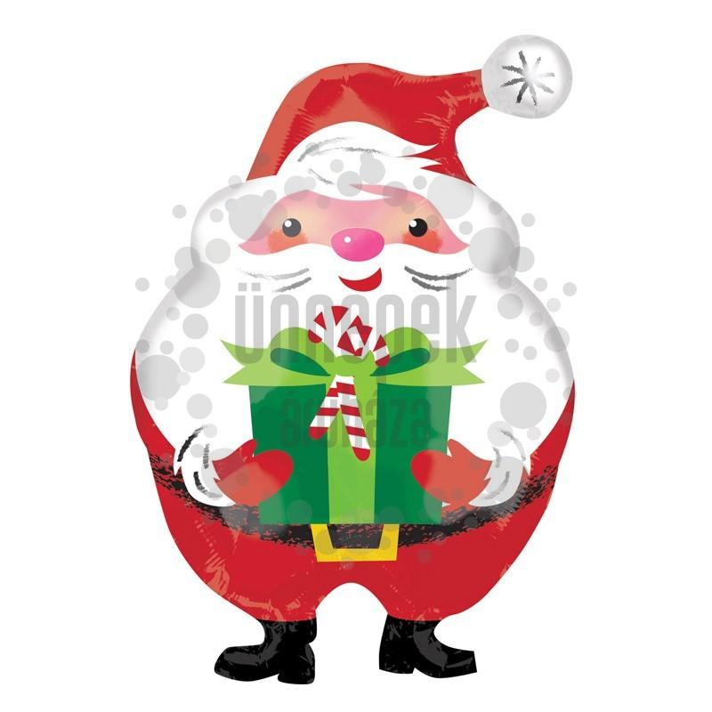 Mikulás Ajándékkal Fólia Lufi Karácsonyra