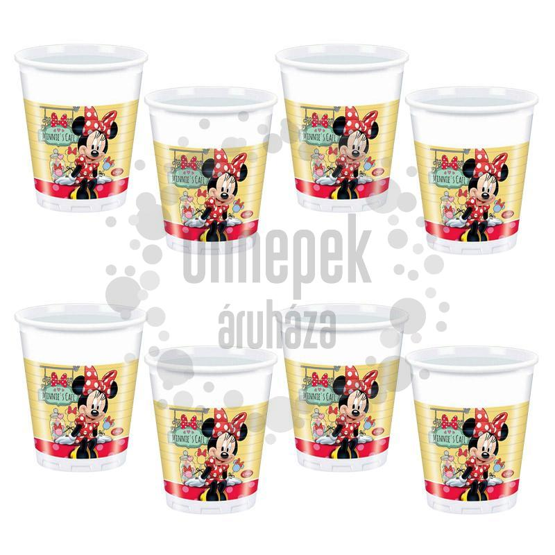 Minnie Cafe Parti Pohár - 200 ml, 8 db-os