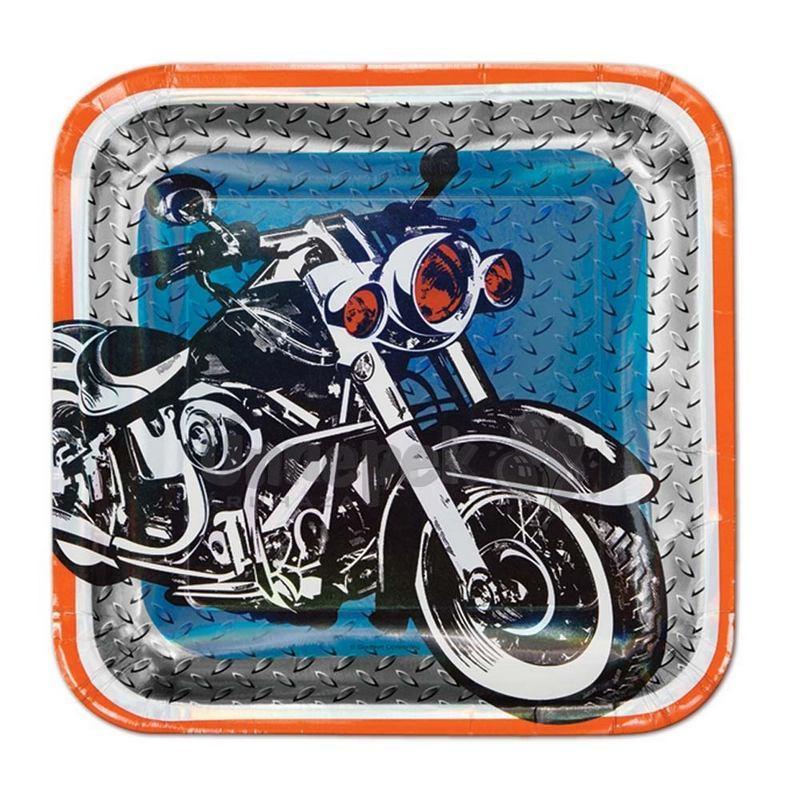 Motoros Parti Tányér - 8 db-os, 27 cm