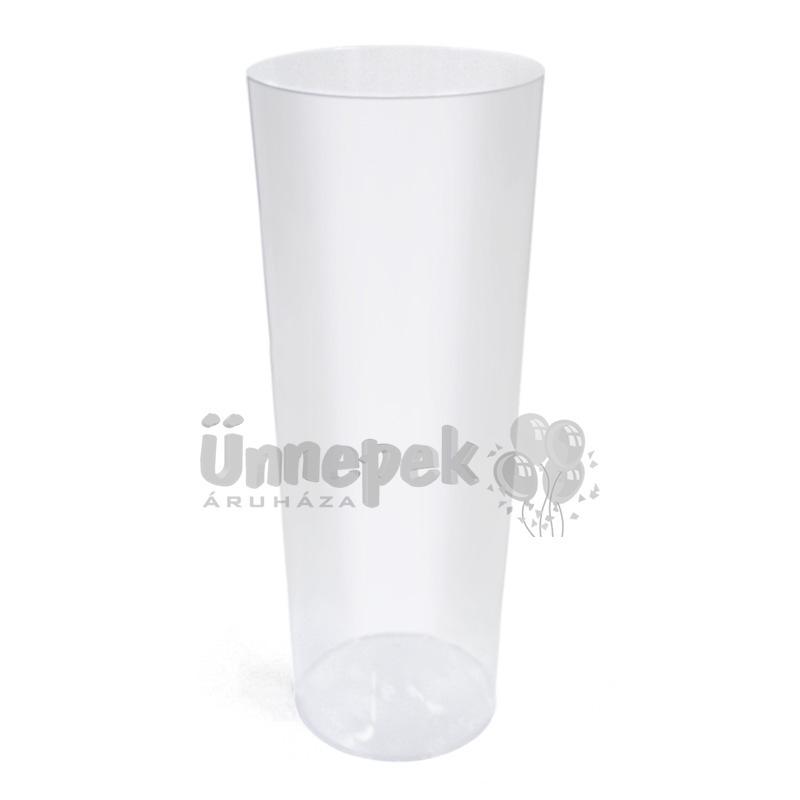 Átlátszó Műanyag Pohár - 3 dl, 6 db-os