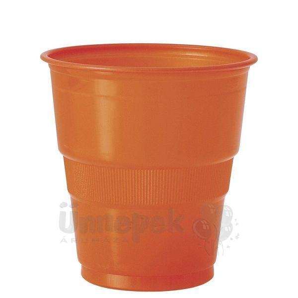 Pumpkin Orange Műanyag Parti Pohár - 270 ml, 12 db-os