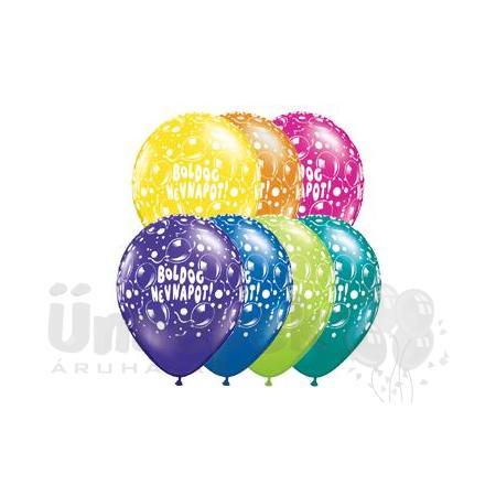 11 inch-es Boldog Névnapot Sparkling Balloons Fantasy Lufi (25 db/csomag)
