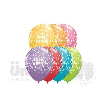 11 inch-es Boldog Névnapot Sparkling Balloons Festive Lufi (25 db/csomag)
