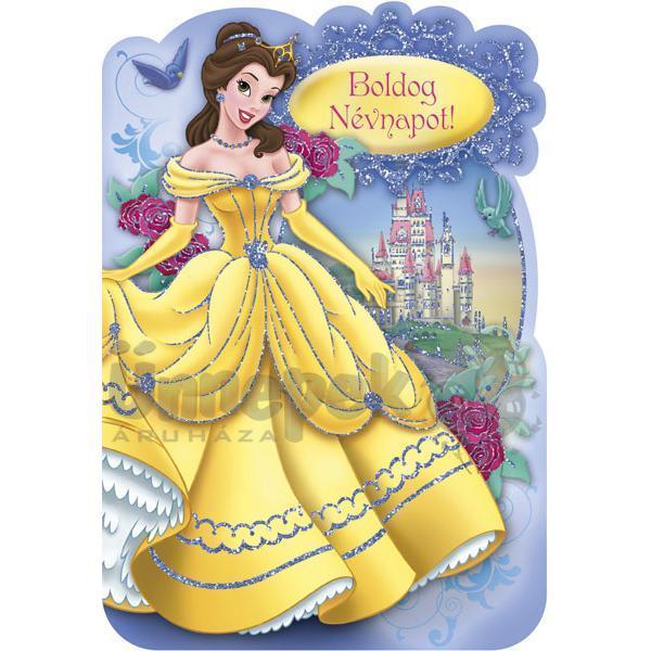 névnapi köszöntő kislánynak Belle Hercegnő Névnapi Képeslap   Party Kellékek Webshop névnapi köszöntő kislánynak