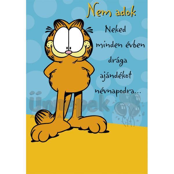 névnapi köszöntő lap Garfield Drága Ajándék Névnapi Képeslap | Party Kellékek Webshop névnapi köszöntő lap