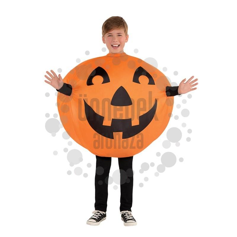 Önfelfújós Tök Jelmez Halloweenre, 8-10 Éveseknek