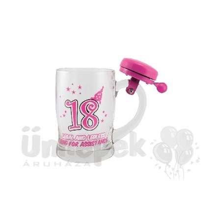 18 születésnapi ajándék lánynak 18 as Számos Szülinapi Sörös Korsó Csengővel 18 születésnapi ajándék lánynak