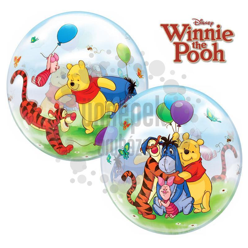22 inch-es Micimackós Disney Bubbles Winnie The Pooh And Friends Héliumos Lufi