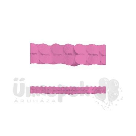 Rózsaszín Papír Füzér - 3,6 m