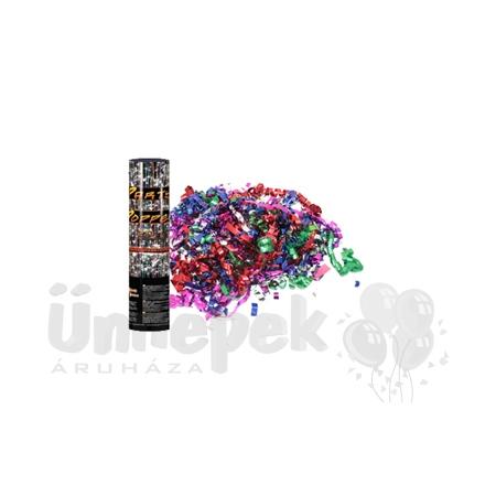 20 cm-es, Színes Metál Szalagokat Kilövő Konfetti Ágyú