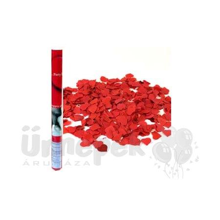 60 cm-es, Piros Papír Szíveket Kilövő Konfetti Ágyú