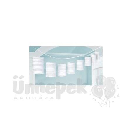 Fehér Lampionfüzér Függő Dekoráció - 3,6 m