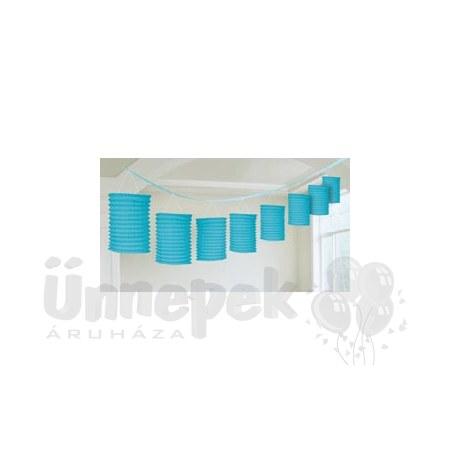 Kék Lampionfüzér Függő Dekoráció - 3,6 m