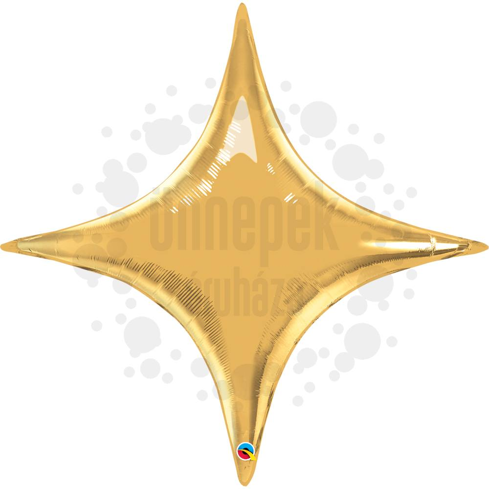 40 inch-es Metál Arany - Starpoint Metallic Gold Héliumos Fólia Lufi