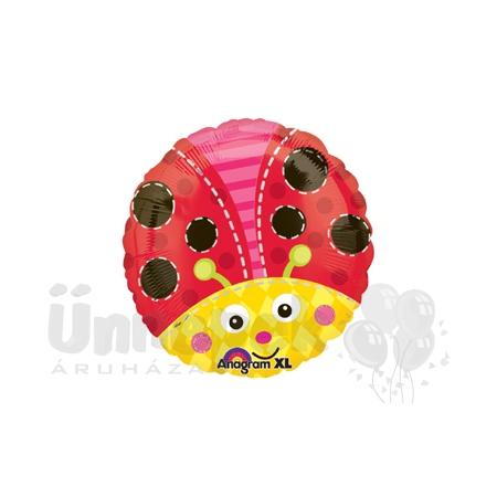 18 inch-es Katicabogár - Cute Lady Bug Héliumos Fólia Lufi