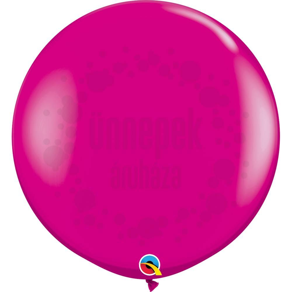 3 feet-es Wild Berry (Fashion) Kerek Latex Lufi (2 db/csomag)