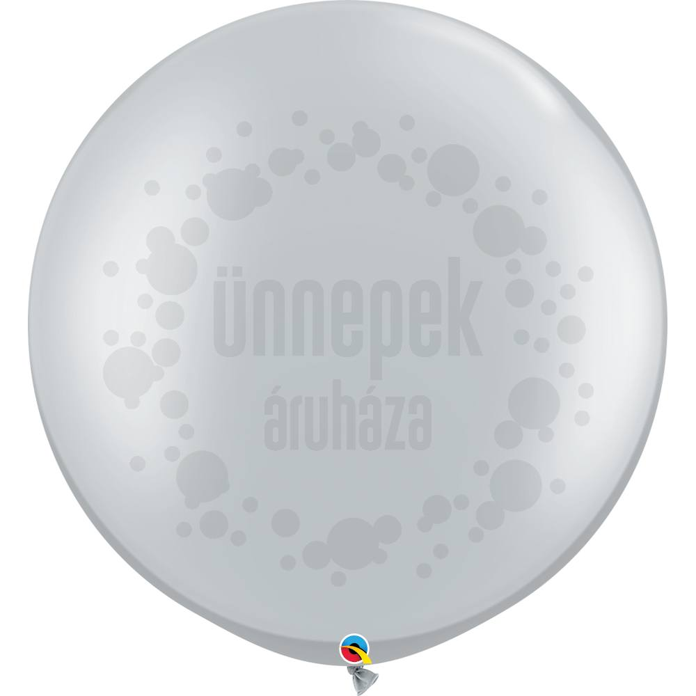 30 inch-es Silver (Metallic) Kerek Latex Lufi (2 db/csomag)