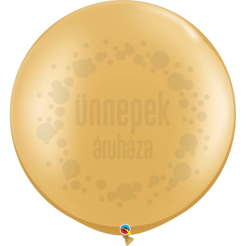 30 inch-es Gold (Metallic) Kerek Latex Lufi (2 db/csomag)