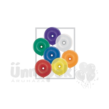 16 inch-es Jewel Assortment Donut Lufi (10 db/csomag)
