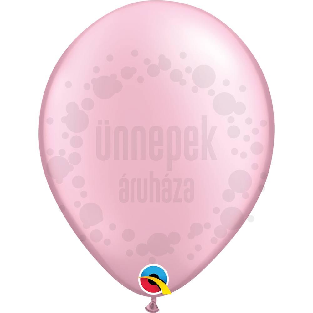 11 inch-es Pearl Pink Kerek Lufi (6 db/csomag)